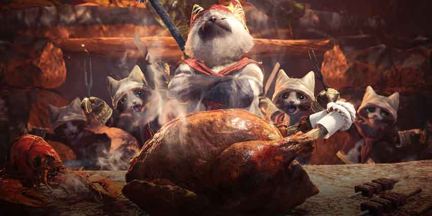 cocinar en Monster Hunter World