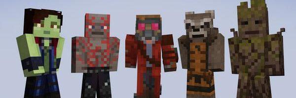 Nuevos skins de Los Guardianes de la Galaxia para Minecraft