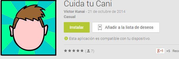 """""""Cuida tu cani"""" nuevo simulador para android y gratuito"""