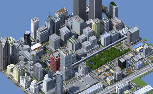 Titan City, la ciudad más grande creada para Minecraft