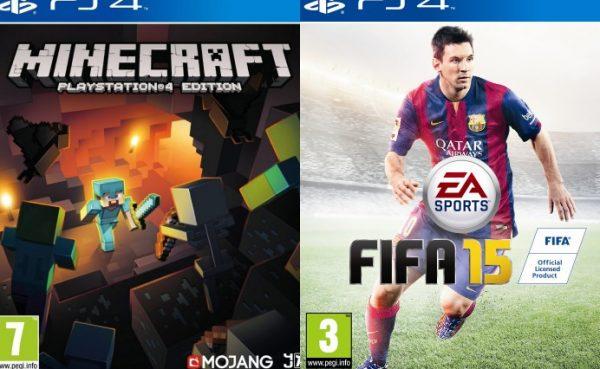 FIFA 15 y Minecraft de regalo al comprar una PS4 en Reino Unido