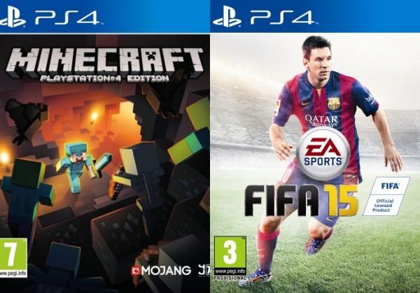 Pack PS4 con FIFA 15 y Minecraft