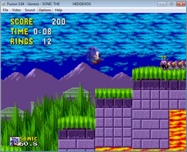 Emulador Megadrive - Sonic the Hedgehog