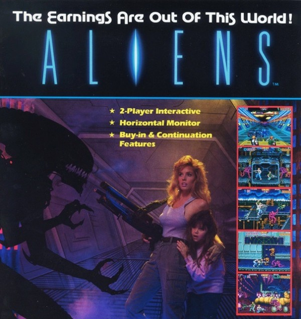 aliens arcade recreativa