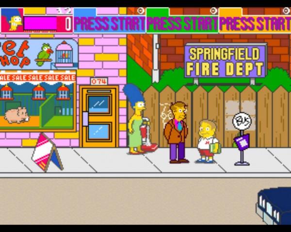 los simpsons arcade game