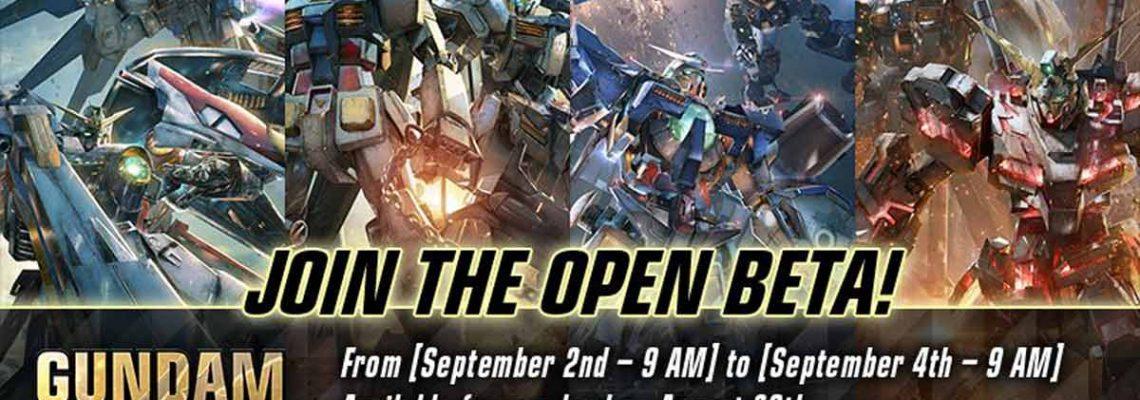 Gundam Versus dispondrá de beta abierta el 2 de septiembre en nuestro país