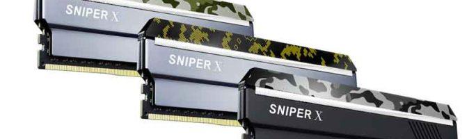 La serie Sniper X de G.Skill vendrán con un bonito diseño de camuflaje