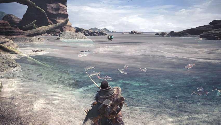como pescar en monster hunter world