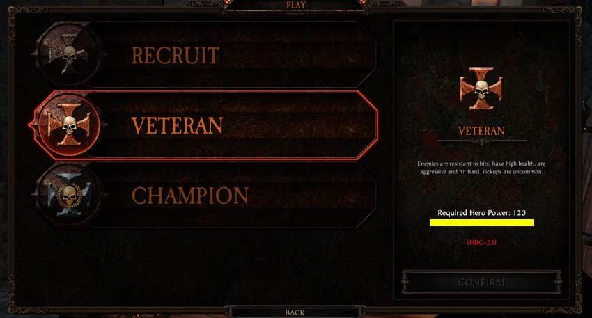 cómo aumentar el poder heroico en Warhammer: Vermintide 2