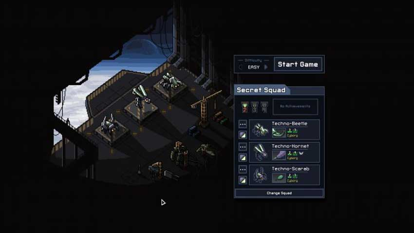 desbloquear el escuadrón secreto en Into the Breach