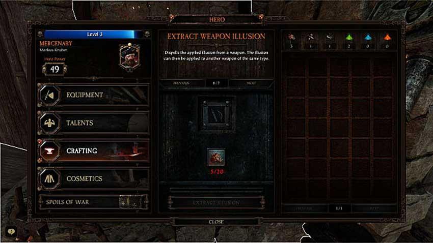 ilusión de armas en Warhammer: Vermintide 2