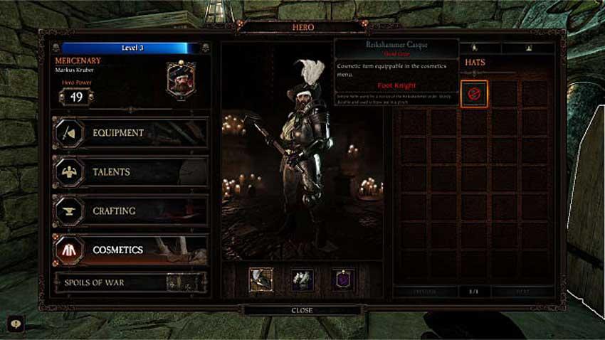 conseguir accesorios en Warhammer: Vermintide 2
