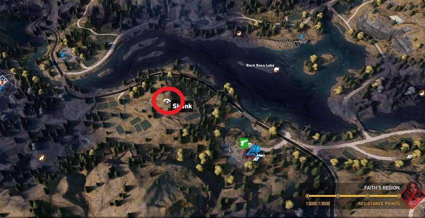 Localización de mofetas en Far Cry 5