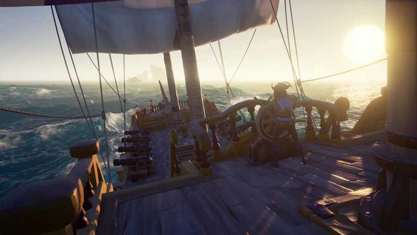 Donde conseguir bolas de cañón, tablones y plátanos en Sea of Thieves