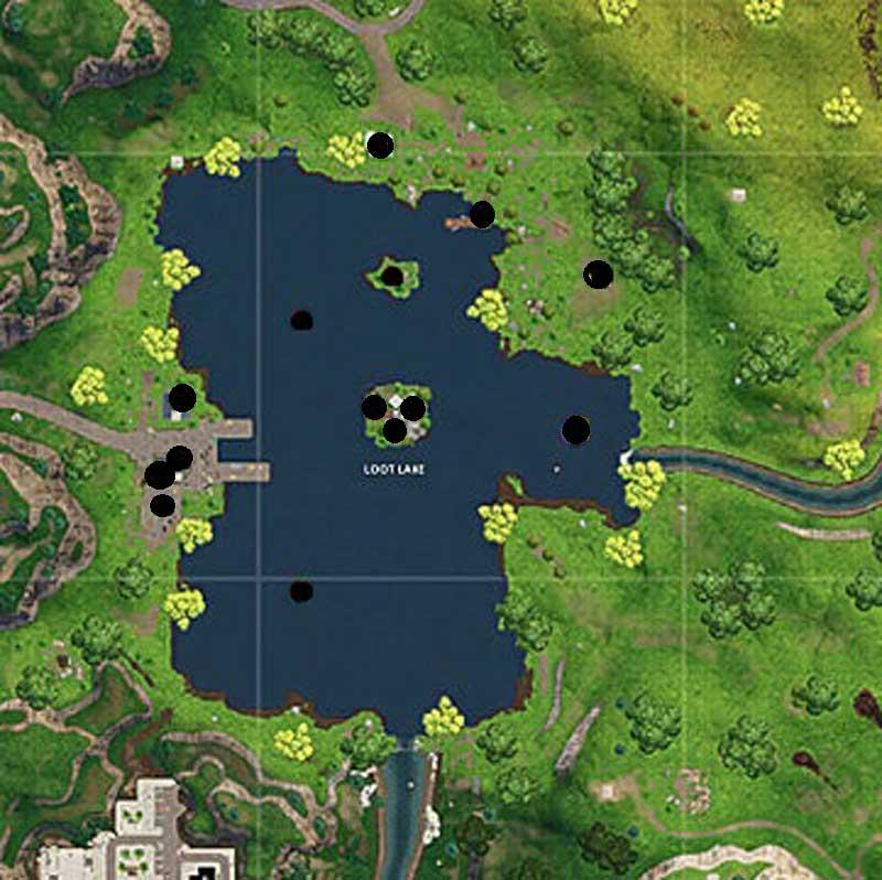 Localización de los cofres de balsa botín en Fortnite